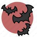 animal, bat, evil, halloween, witch icon