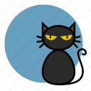 animal, cat, evil, halloween, witch icon
