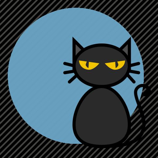 animal, cat, evil, halloween, witch icon