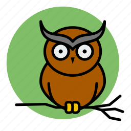 animal, evil, halloween, owl, witch icon