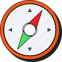 compass, direction, location, map, navigation, sticker, world icon