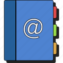 book, contact, document, documents, files, sticker icon