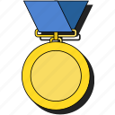 achievement, award, badge, medal, prize, sticker, trophy, winner icon