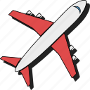 aeroplane, airplane, flight, plane, sticker, travel icon