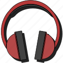 headphone, headphones, headset, listen, music, sound, sticker icon