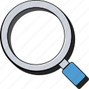 find, glass, magnifier, magnifying, search, sticker, zoom icon