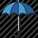 beach, rain, sticker, umbrella, weather icon