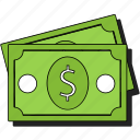 bank, cash, currency, dollar, finance, money, sticker icon
