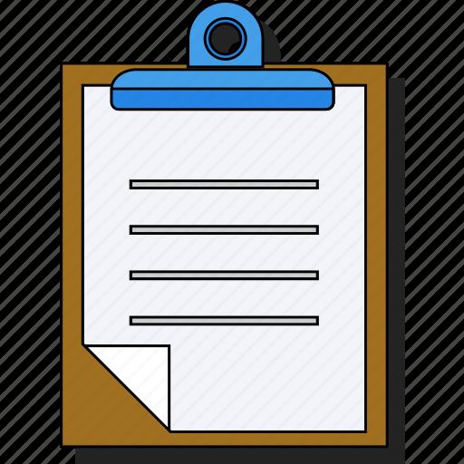 checklist, clipboard, document, paper, report, sticker icon