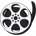 cinema, media, movie, multimedia, reel, sticker, video icon