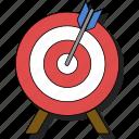 aim, bullseye, focus, goal, sticker, target icon