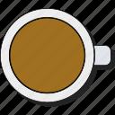beverage, coffee, cup, drink, espresso, hot, mug, sticker icon