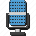 audio, mic, music, play, recording, sound, sticker icon