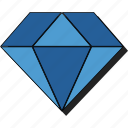 diamond, gem, gemstone, jewel, jewelry, sticker icon