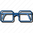 eyeglasses, glasses, spectacles, sticker icon