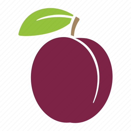 food, fruit, plum, prune, sticker icon