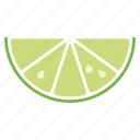 food, fruit, lime, slice, sticker icon