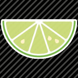 food, fruit, lime, slice, sticker icon