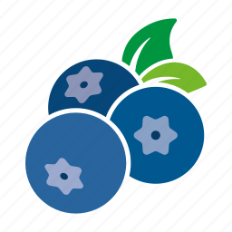 blueberries, blueberry, food, fruit, sticker icon