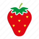 food, fruit, sticker, strawberry icon