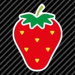 food, fruit, sticker, strawberry icon
