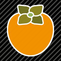 food, fruit, kaki, persimmon, sticker icon
