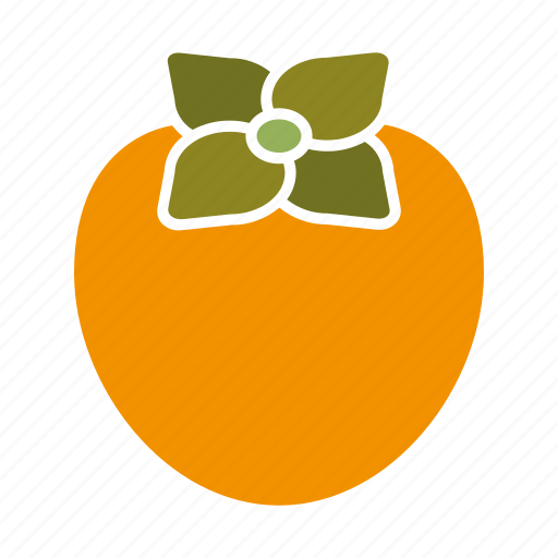 food, fruit, kaki, persimmon, sticker icon