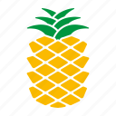 food, fruit, pineapple, sticker icon