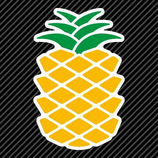 food, fruit, pineapple, sticker icon