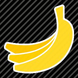 bananas, food, fruit, sticker icon