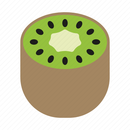 food, fruit, half, kiwi, sticker icon
