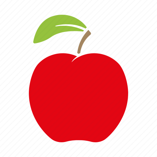 apple, food, fruit, red, sticker icon