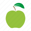 apple, food, fruit, green, sticker icon