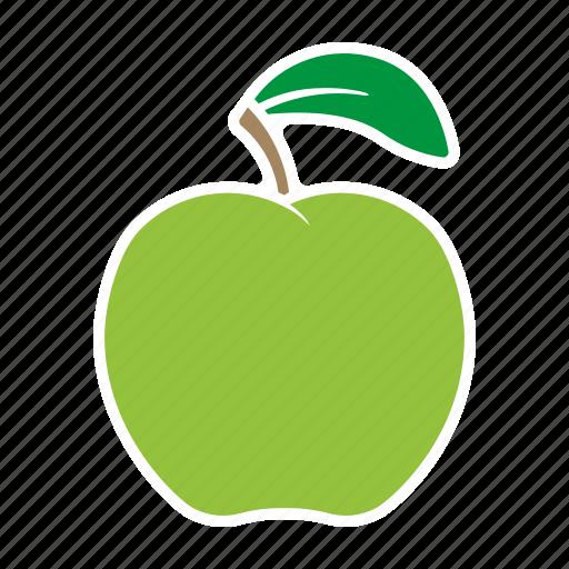 apple, food, fruit, green, sticker icon