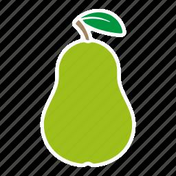 food, fruit, pear, sticker icon