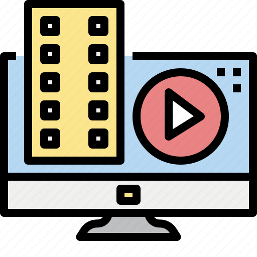 Clip, computer, contributor, movie, online, video icon - Download on Iconfinder