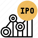 chart, investor, ipo, offering, public icon