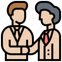 agreement, benefit, business, shareholder, trust icon