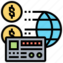 account, cash, finance, global, id icon