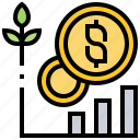 analysis, benefit, chart, finance, growth icon