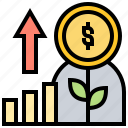 benefit, chart, increase, interest, profit icon