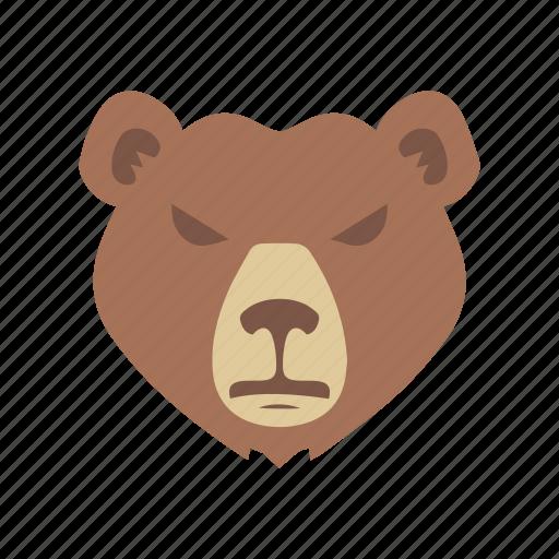 bear, bear market, grizzly bear, stock market icon