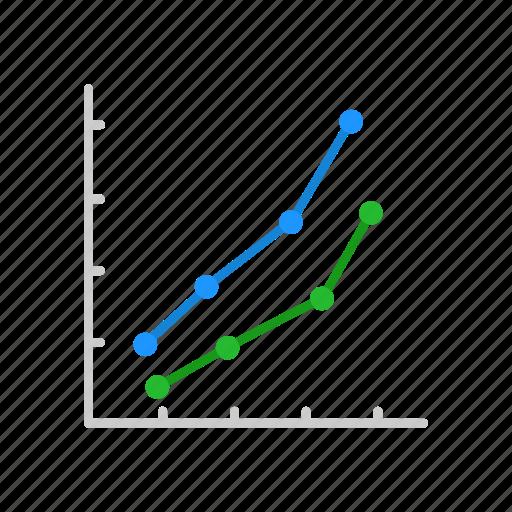 chart, line graph, marketing, sales icon
