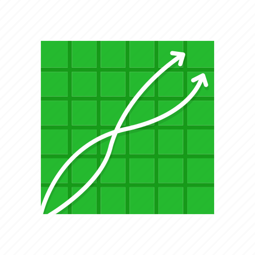 chart, line graph, marketing, sales icon