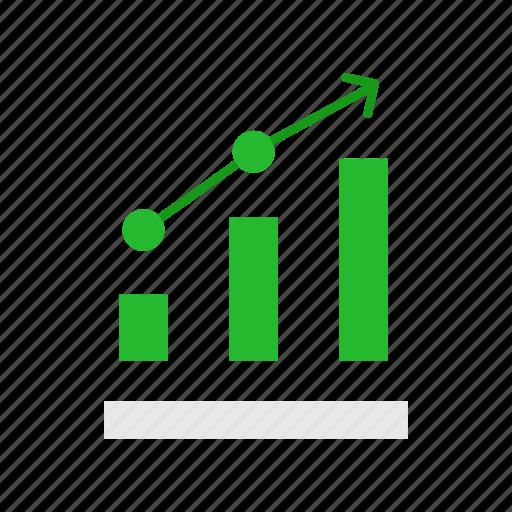 bar graph, chart, marketing, sales icon
