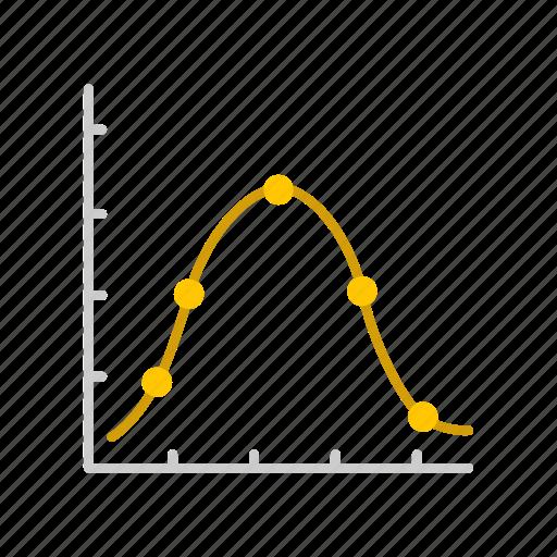 bar graph, chart, line graph, sales icon
