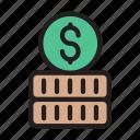 dollar, coins, marketing, finance, money