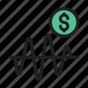 trading, market, graph, dollar, chart
