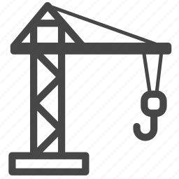 architecture, building, construction, crane, derrick, real, stocks icon