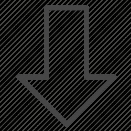 arrow, direction, down, economic, lose, move, top loser icon